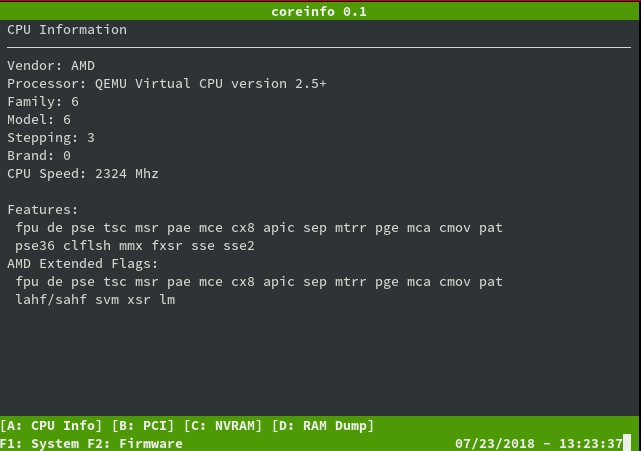 Coreboot in `qemu`